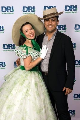 Scarlett O'Hara de Gone with the Wind y Eduardo Escalera de DRI Mexico