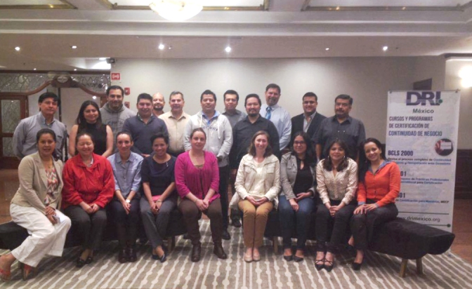 Curso Planeación de IT/DR ofrecido en México